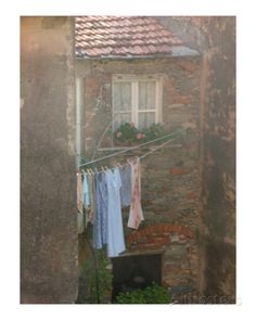 Doing Laundry the Italian Way Photographic Print by Stephanie Elenbaas at AllPosters.com