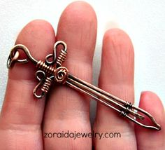 Bronze and Copper Wire Sword I love this!!!!