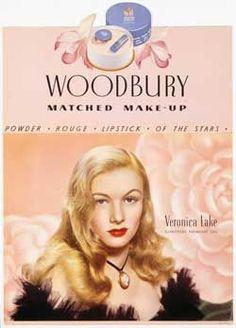 Veronica Lake make-up advert for Woodbury cosmetics