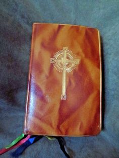 Vintage 1963 Saint Joseph Daily Missal Brown Leather with Vintage Cards