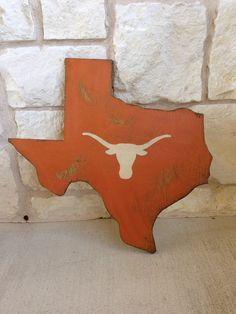 2' x 2' longhorn on Texas cutout