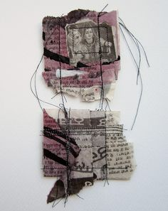 This delicate piece is made from Indian newspaper which has been stained and printed on, folded and then carefully sewn