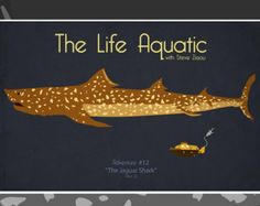 The Life Aquatic with Steve Zissou - Jaguar Shark Movie Poster on Etsy, kr Movie Poster Art, Poster On, Poster Prints, Film Posters, Wes Anderson Style, Leopard Shark, Shark S, Shark Week, The Royal Tenenbaums