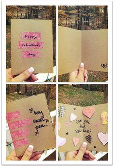 diy washi tape valentines