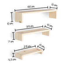 Prateleira 1,2,3 Natural! - Tadah! Design Home Decor Shelves, Home Decor Furniture, Pallet Furniture, Furniture Projects, Diy Home Decor, Furniture Design, Room Decor, Wall Shelves Design, Diy Wall Shelves