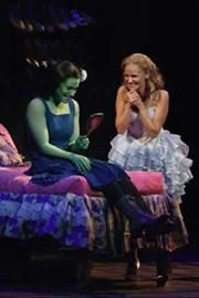 One of the best scenes in Wicked;  Love Idina and Kristin.