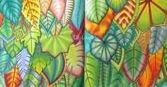 Inspirational Coloring Pages by @ollyloveart #johannabasford #magicaljungle…