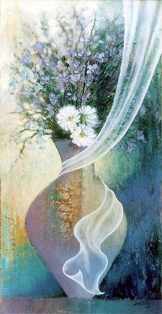 Flower Art, Birds, Animals, Painting, Corner, Gardens, Vases, Fine Art, Paintings