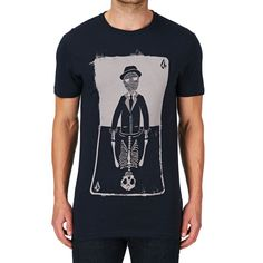 Volcom Fliped Out Lightweight T-Shirt - Blue Black | Free Delivery