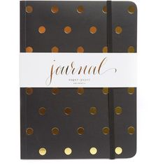 Sugar Paper Polka Dot Journal ($23) ❤ liked on Polyvore featuring home, home decor and stationery