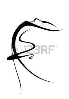 silhouette: An abstract image of a ballet dancer
