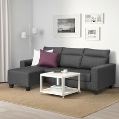 IKEA - FRIHETEN, Corner sofa-bed with storage, Skiftebo dark grey, This sofa converts quickly and easily into a spacious bed when you remove the back cushions and pull out the underframe. Sofa, chaise longue and double bed in one. Ikea Friheten, Friheten Sofa Bed, Corner Sofa Bed With Storage, Bed Storage, Storage Spaces, Canapé Convertible Ikea, Sofa Cama Ikea, Bed Ikea, Banquette Design