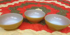 Fire King yellow cereal bowl set of 3 by Southernclassics32