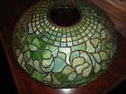 "For Sale - TIFFANY 19"" DROP LEAF LAMP SHADE SIGNED PEIOD PIECE"