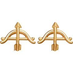 ASTLEY CLARKE Bow and Arrow biography 18ct yellow gold-plated stud... ($91) ❤ liked on Polyvore featuring jewelry, earrings, earring jewelry, yellow gold jewelry, yellow gold earrings, gold jewelry and gold earrings jewelry