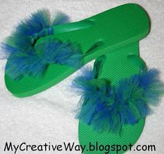 hmm tutu flip flops, wonder if they'd be itchy?