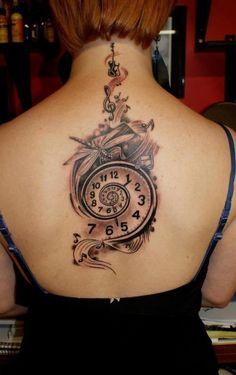 Love this clock tattoo