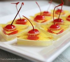 Pina Colada Jello Shots all of them can be made without alcohol.
