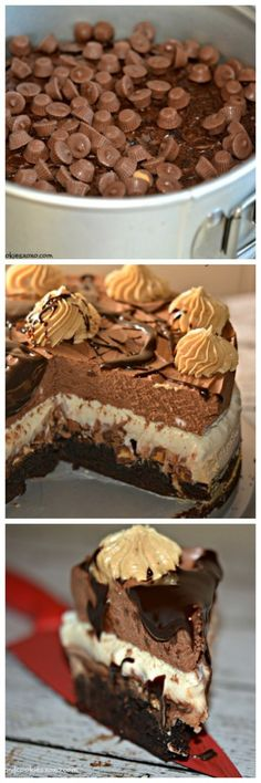 Peanut Butter Chocolate Mousse Cake - Hugs and Cookies XOXO