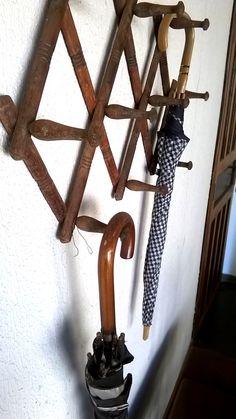 Cabideiro Vintage Madeira - Wood Art - Foto: KP