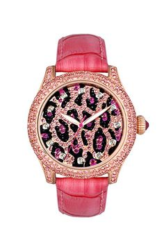 Betsey Johnson Leopard Dial Watch |
