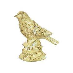 Pássaro Cerâmica Branco