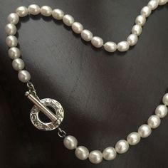 Tiffany & Co Freshwater Oval Pearl Necklace. Sterling Silver. 925 stamped. 18 inches long. Tiffany & Co. Jewelry Necklaces