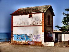 Chilches. Antigua estación de l Ferracarril de Vía Estrecha Málaga -Velez- Málaga