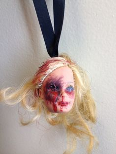 Creepy Dead Doll Head Ornament  Judy Suicide by TrashDollDiva, $10.00