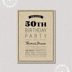 Sorpresa 50.o cumpleaños - invitación de cumpleaños de adultos - 21 para imprimir, 30,40,60 Milestone fiesta de cumpleaños invita - Fall / Otoño