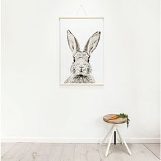 Magnetic poster - ready to roll - rabbit // Groovy Magnets