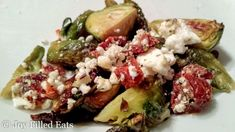 Roasted Brussels Sprouts with Sundried Tomatoes & Feta