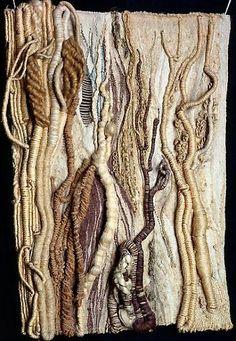 Rosemarie Heber Koczÿ Trees Hemp sisal linen jute raw silkalgae and wool 94 x Guggenheim Collection Venice PG Textile Texture, Textile Fiber Art, Textile Artists, Sisal, Jute, Techniques Textiles, Art Techniques, Art Fibres Textiles, Textile Manipulation