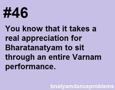 Bharatanatyam dance problems