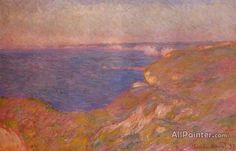 Claude Monet On The Cliff Near Dieppe oil painting reproductions for sale