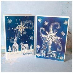 """Das Stempelset """"Weihnachtsstern"""" und die passenden Thinlitsformen """"Sternenzauber"""" gab es bereits letztes Jahr im Herbst-/Winterkatalog. Zur Freude vieler Kunden/innen und De…"""