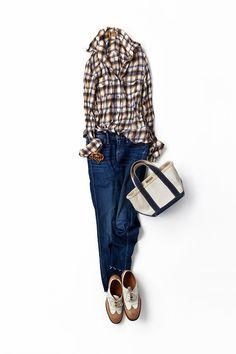 コーディネート詳細(秋色のシャツで作る、リラックススタイル)| Kyoko Kikuchi's Closet|菊池京子のクローゼット