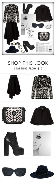 """View from the top"" by zabead ❤ liked on Polyvore featuring Marni, MaxMara, Thomas Blakk, Chloé, Laurence Dacade, Black Swan, CÉLINE, rag & bone, Anya Hindmarch and chic"