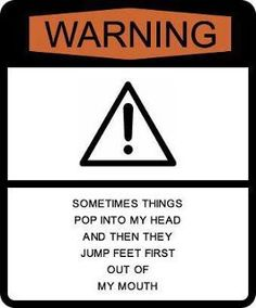 Glad they finally made my warning sign ;)