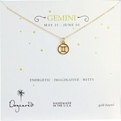 want a Dogeared Gemini necklace, too into astrology NOT to have one