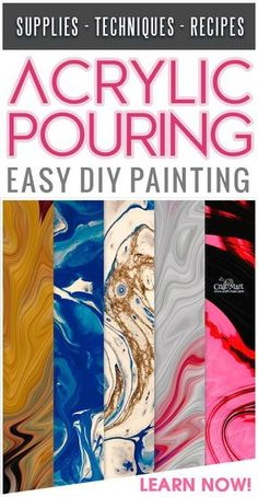 Have fun creating amazing abstract wall art on canvas with the acrylic pouring technique! Easy to learn - great results. Learn new acrylic pouring medium techniques from the best fluid artists around! You can easily create really good-looking DIY painting Acrylic Pouring Techniques, Acrylic Pouring Art, Acrylic Art, Drip Painting, Paint Drip Art, Painting Canvas, Flow Painting, Marble Painting, Painting Tips