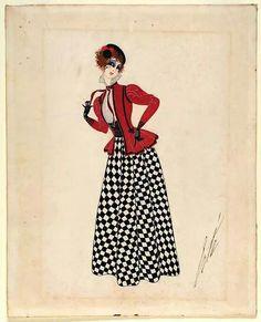 Costume for Ganna Walska as Zazà in 'Zazà', Erté 1920