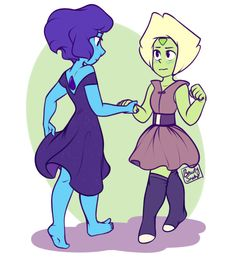 "beautysnake: ""ive been doing pretty good at this ""posting art daily"" thing "" Lapis And Peridot, Lapis Lazuli, Steven Universe Lapidot, Snake Art, Comic Book Collection, Universe Art, Kawaii, Stars At Night, Cartoon Tv"