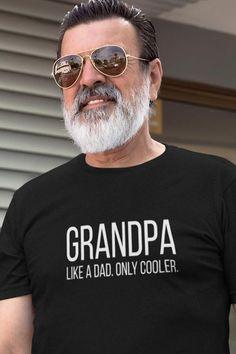 Personalized Grandpa Shirt, Grandpa Christmas Gift, New Grandad Gift, Grandfather Gift, New Grandpar – Gift Ideas New Grandparent Gifts, New Grandparents, Gifts For Father, Grandfather Gifts, Grandpa Gifts, Grandfather Quotes, Grandad Shirts, Fathers Day Shirts, Grands Parents