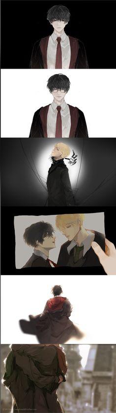 Harry Potter Anime, Harry Potter Fan Art, Drarry Fanart, Darry, Draco Malfoy, Manhwa, Haikyuu, Hogwarts, Naruto