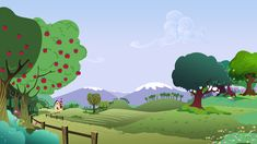 Background Scenery Hillside Farm by TimeImpact on DeviantArt Hillside Farming, Mlp, Paper Doll House, My Little Pony Birthday, Graphic Artwork, Up Book, My Little Pony Friendship, Baby Quilts, Wallpaper Backgrounds