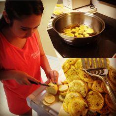 Squash, Italian seasoning, and olive oil. Medium heat until soft