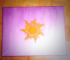 My Tangled canvas :) #tangled #disney #diy
