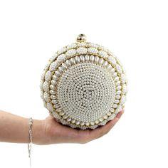34c681d80637 Milisente дизайнер жемчужные Сумки круг Форма бисером Клатчи Для женщин  Свадебная сумка с цепочкой леди вечер кошелек сцепления купить на AliExpress