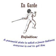 The definition of en garde
